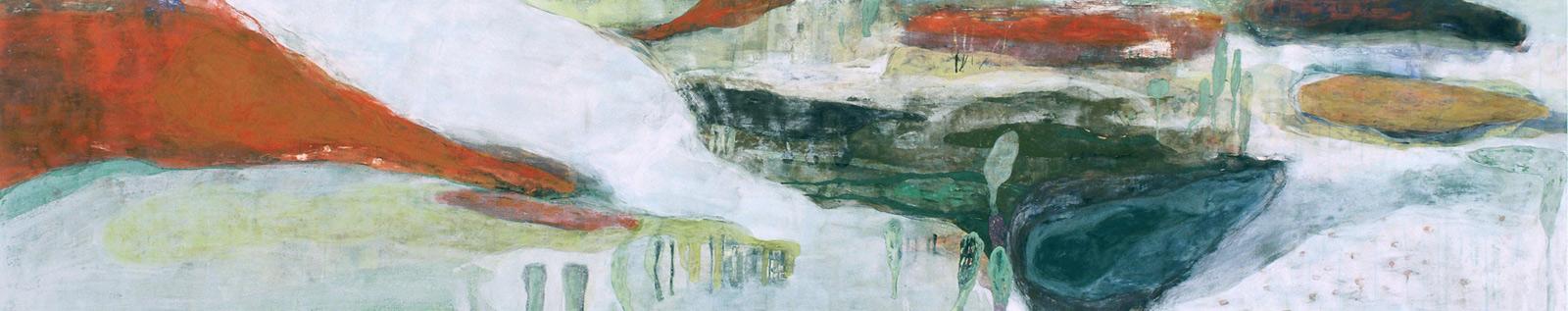 「湿原のうみ」 60×285 cm 麻紙・岩絵具 2006年