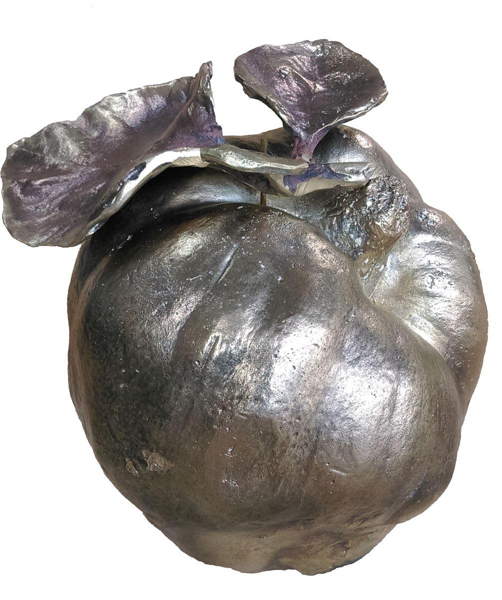 La pomme d'Adam. Bronz. 13 x 12 x 10 cm