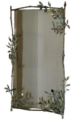 Bronze frame, mirror, 70 x 44 cm
