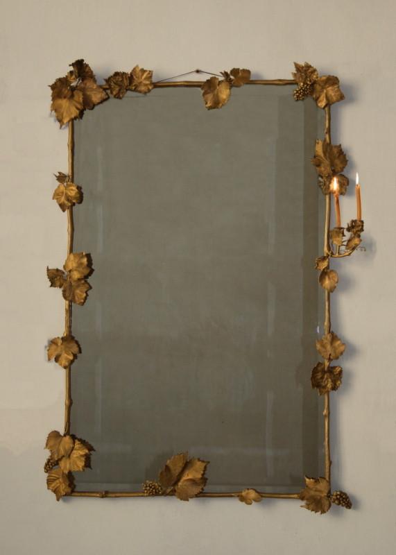 Bronz şi oglindă, 125 x 82 cm