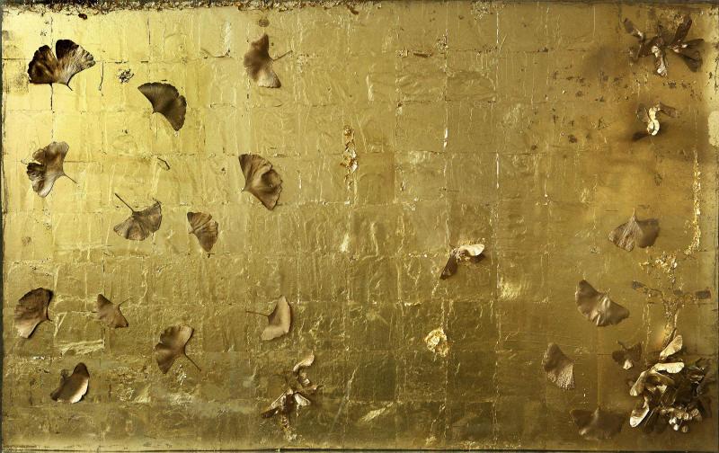 Erezie de toamnă,  tehnică mixtă pe carton, 70 x 112 cm