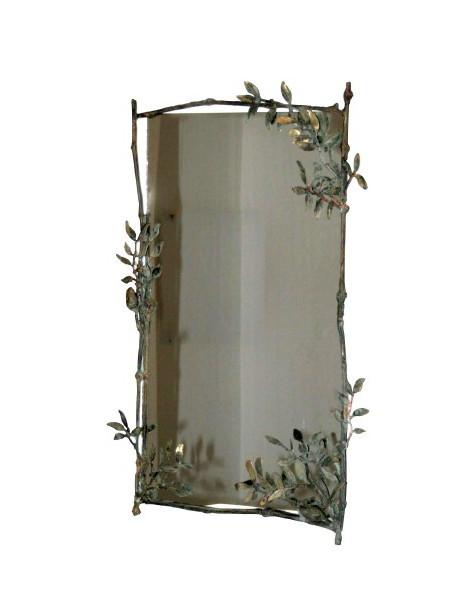 Bronze et miroir, 70 x 44 cm