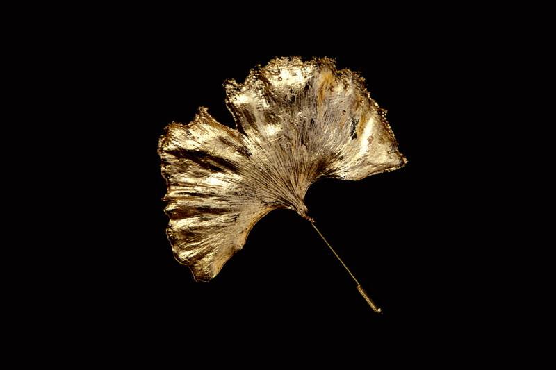 Broşă, cupru aurit