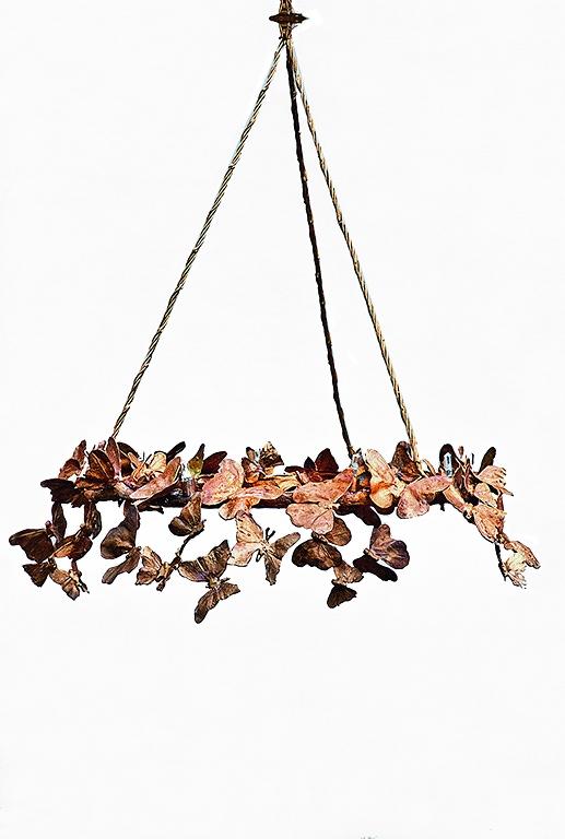 Manège. Bronze et cuivre. 15 x D 60 cm