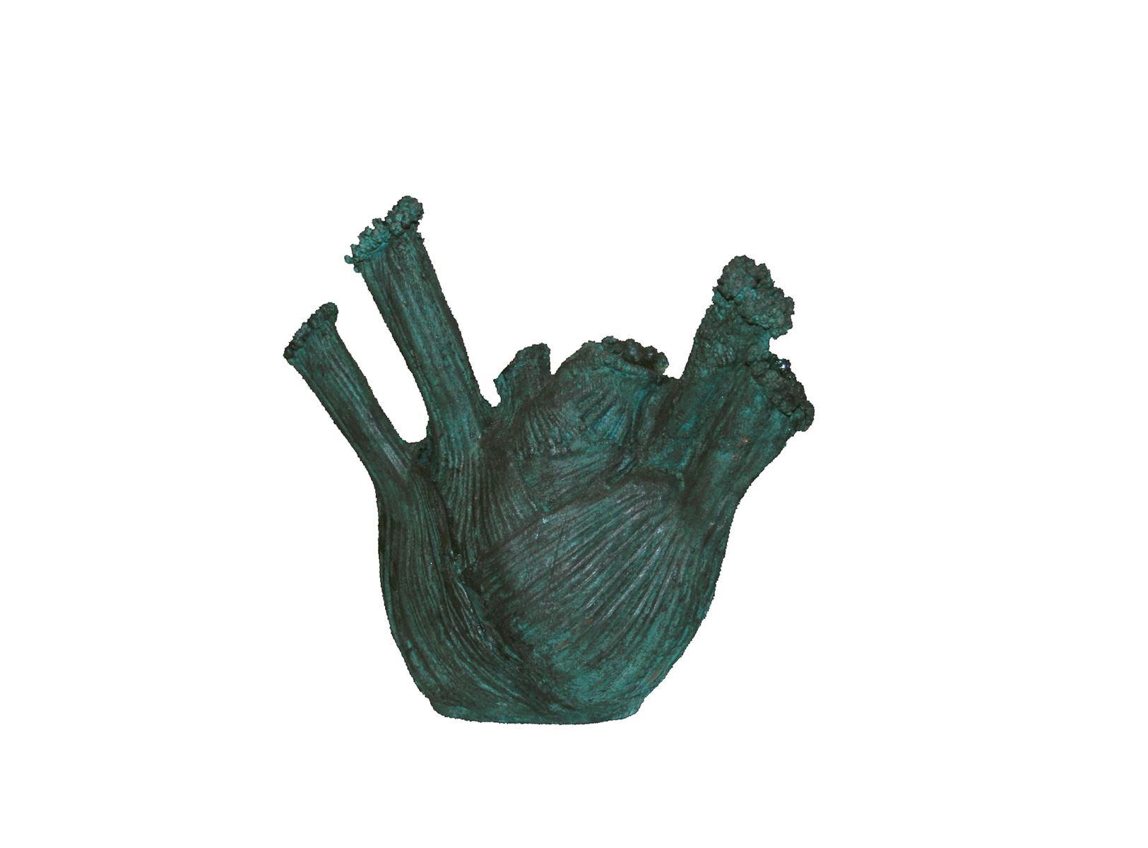 Sans titre. Bronze patiné. 19 x 20 x 8 cm