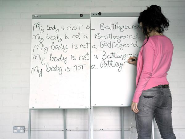 """""""Mi cuerpo no es un campo de batalla"""" 2007. 40x30 cms"""