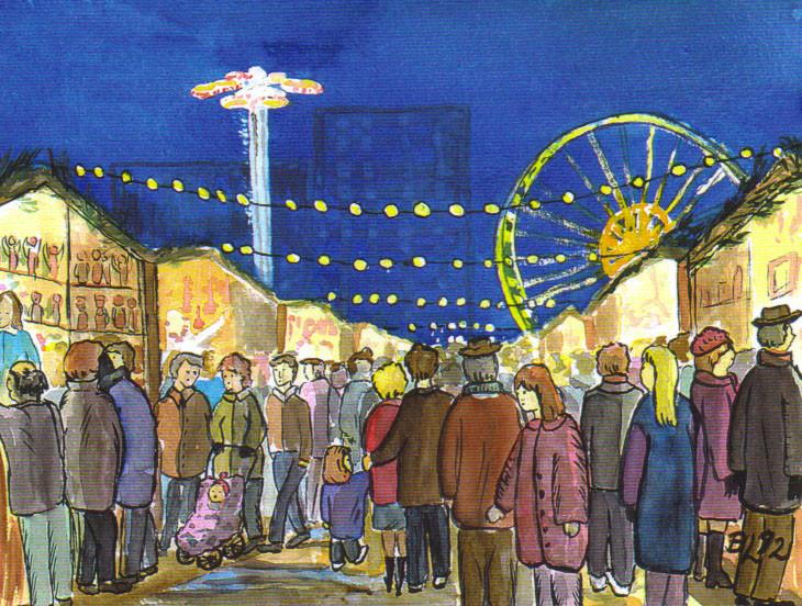 Weihnachtsmarkt 1992