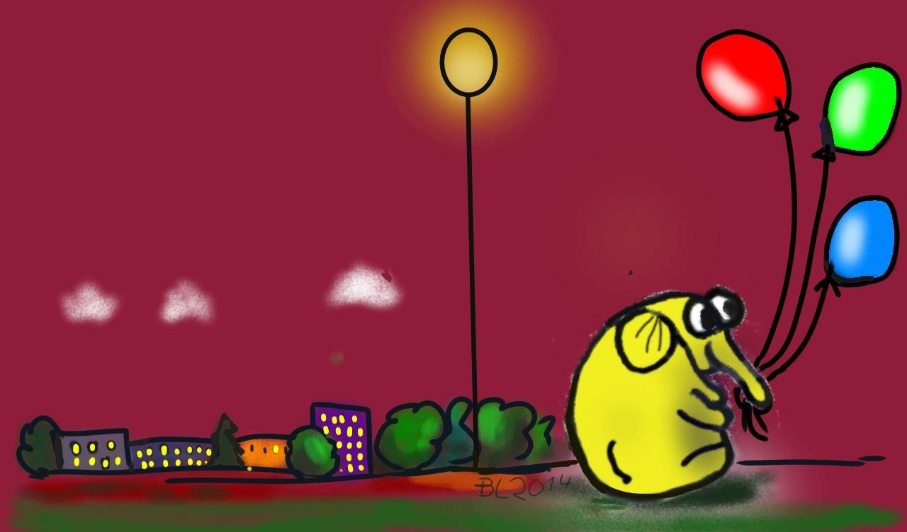 2014 Olo mit Ballon  (digital)