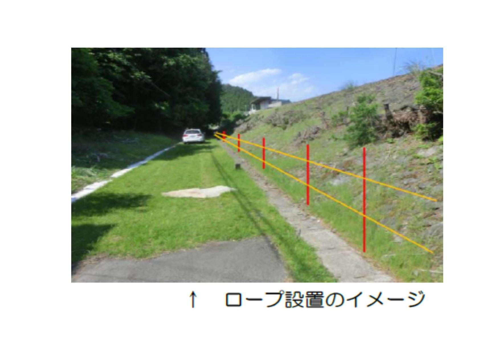 プロサッカー選手による鹿よけ対策ロープの設置作業が行われます【三陸鉄道】