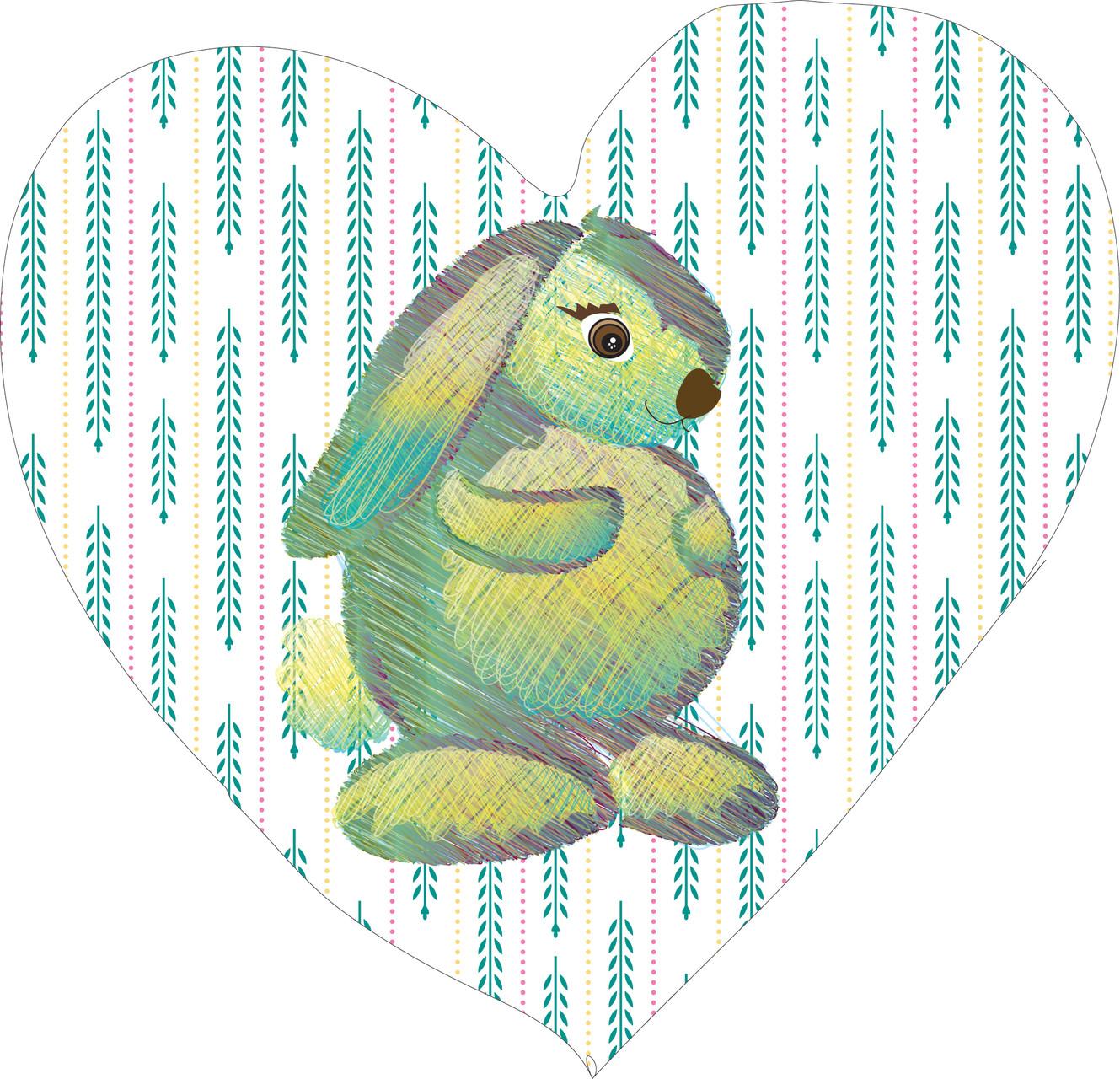 Conejito en corazón azul