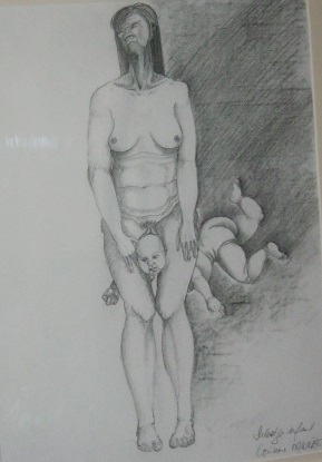 Salvage infant   dessin, 38 x 28 cm