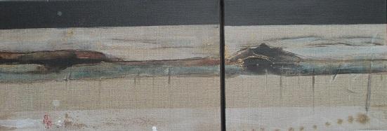 Misato 1 (belle campagne),  dyptique,   30x40 + 30x40 cm.