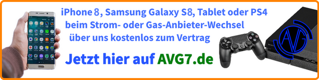 AVG7 Strom- & Gasanbieter Preise, Tarifvergleich, Preisvergleich, Online-Rechner, Verträge mit Handy, Tablet oder PS4