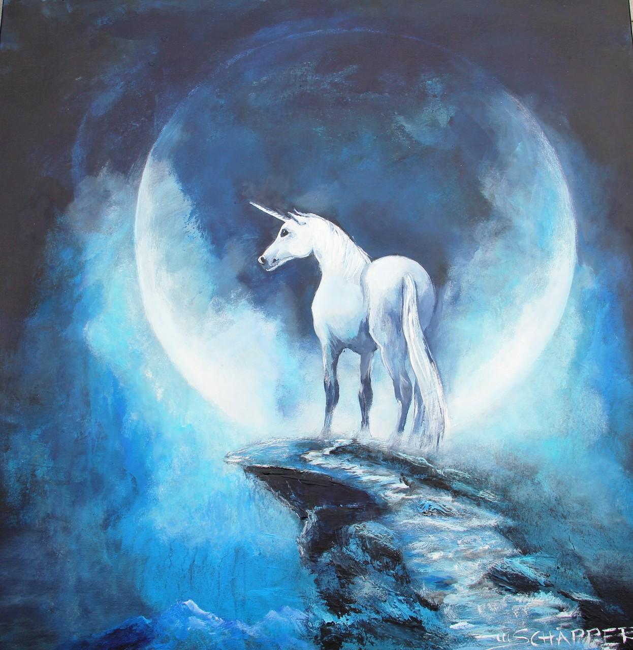 Einhorn im Mond