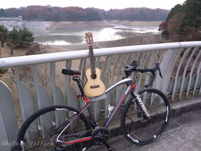 狭山湖(自転車)×ウクレレ
