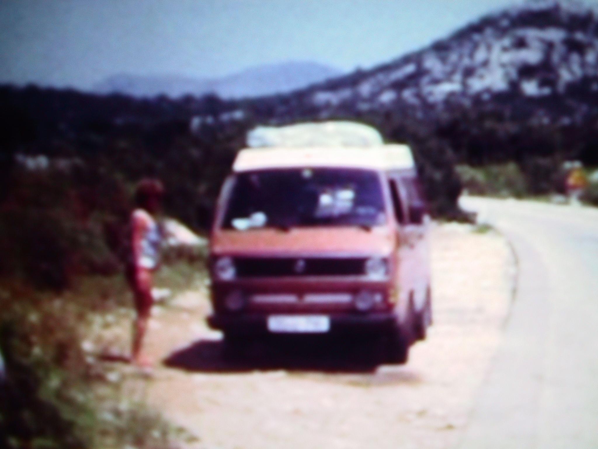 Pause in Yugoslawien auf dem Weg in Richtung Süden.