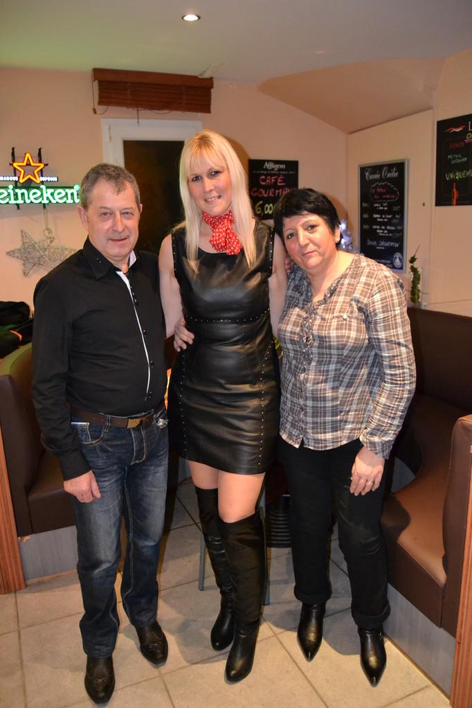 avec Laurent et Evelyne