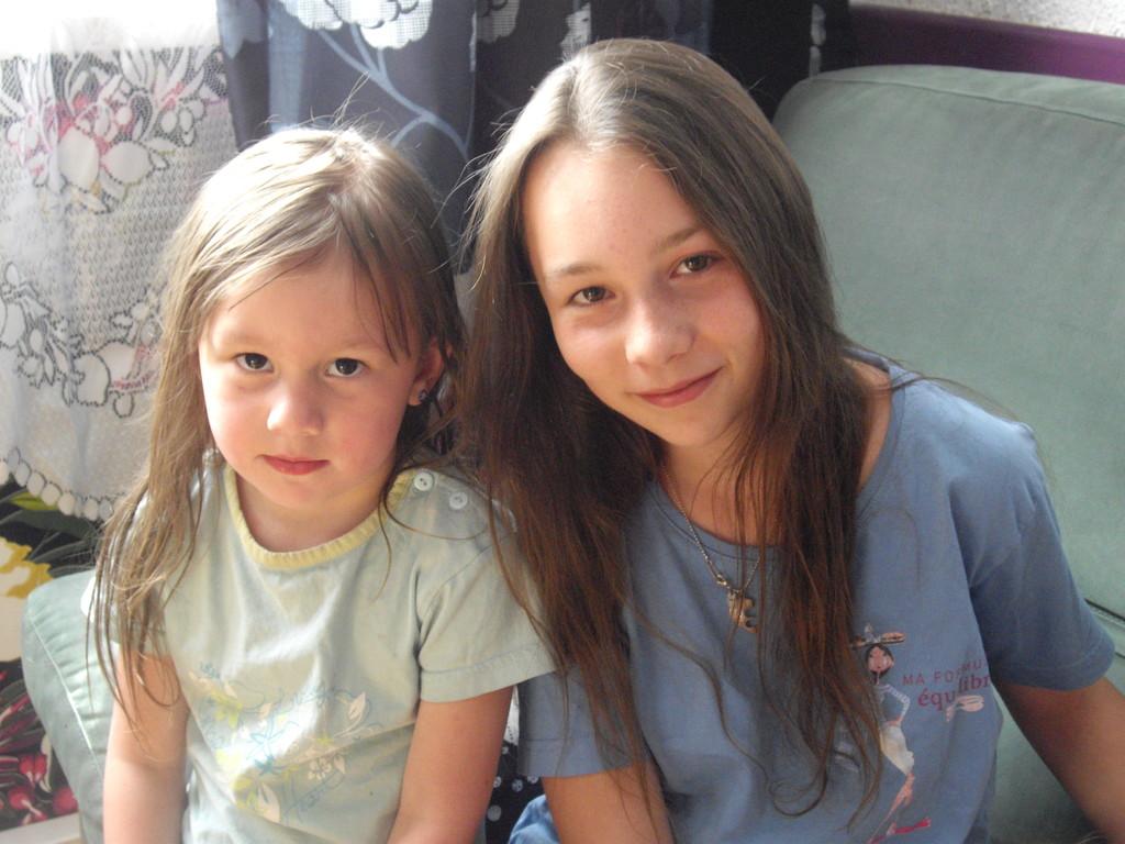 Mes nièces : Anaïs et Kéty