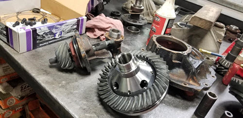New Yukon ring and pinion replaced worn parts in 1966 Ford Mustang