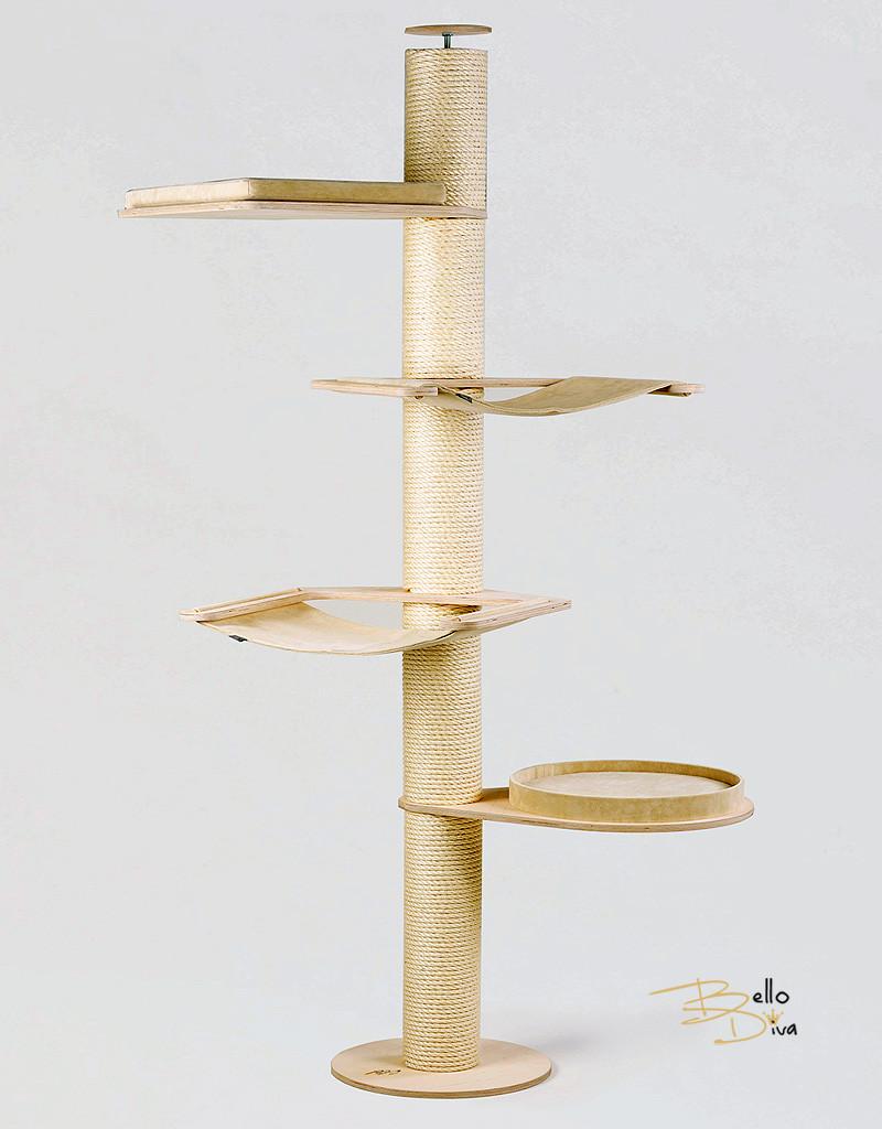 kratzbaum deckenspanner savannah bello diva luxus. Black Bedroom Furniture Sets. Home Design Ideas