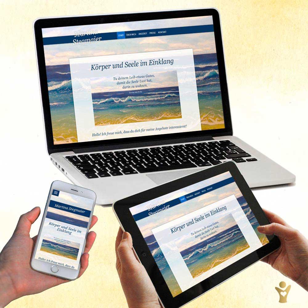 Webdesign für www.martinastegmaier.de