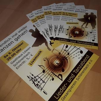 Flyer und Plakate für den Gesangverein Schönenbach e.V.