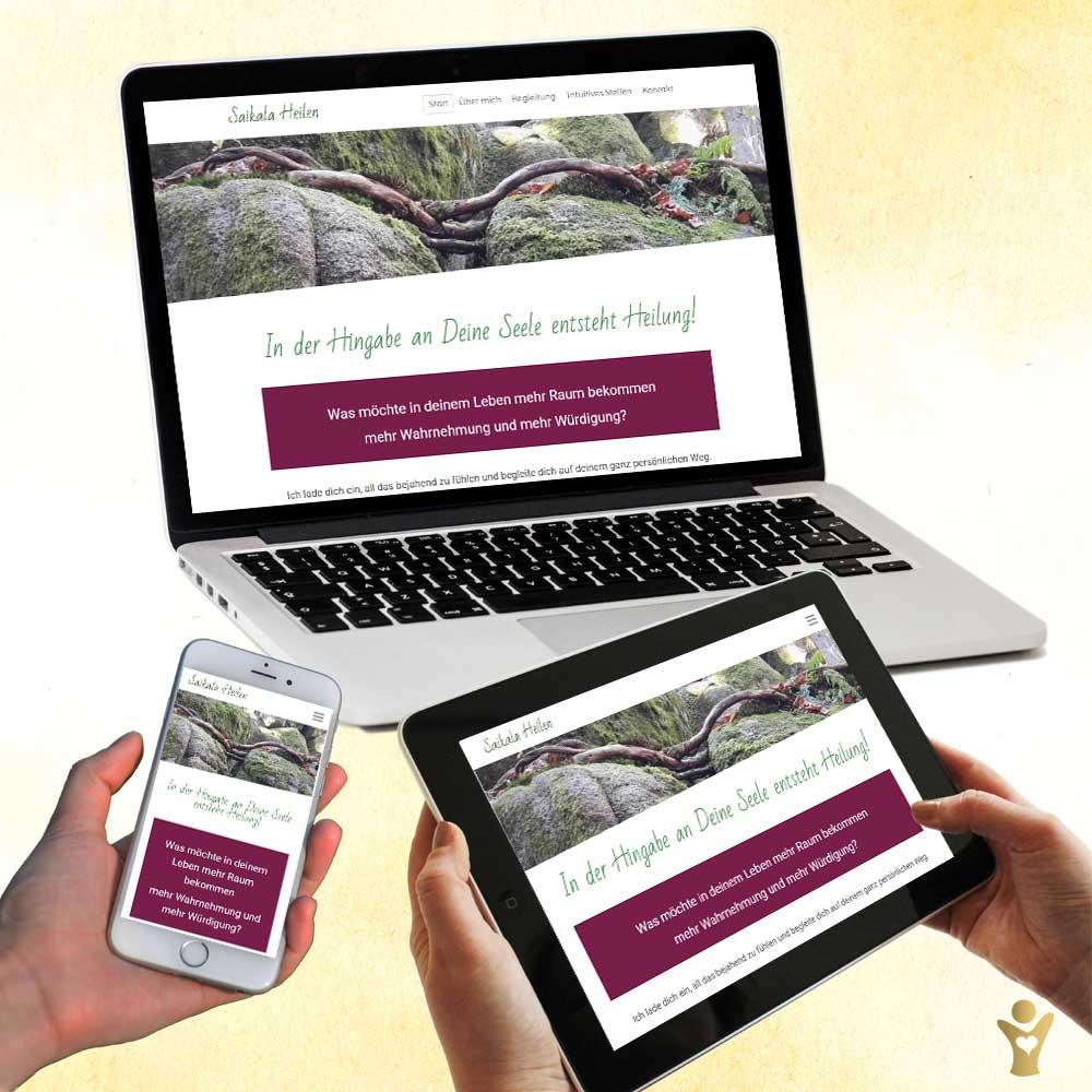 Webdesign für www.saikala-heilen.de