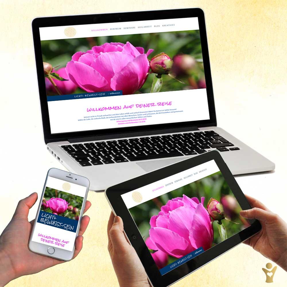 Webdesign für www.licht-und-bewusstsein.com