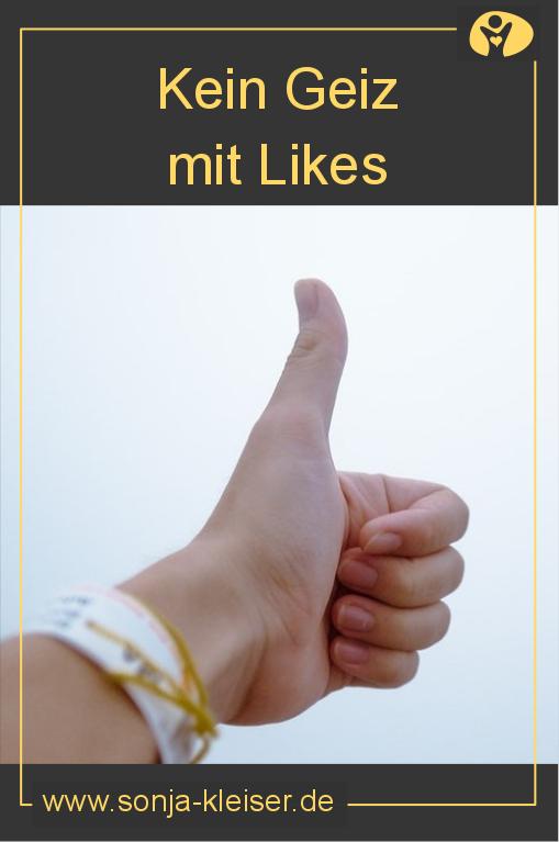 Kein Geiz mit Likes - Sonja Kleiser - Werbung und Design