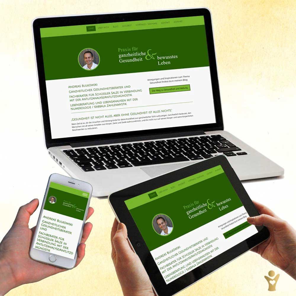 Webdesign für www.praxis-bulkowski.de