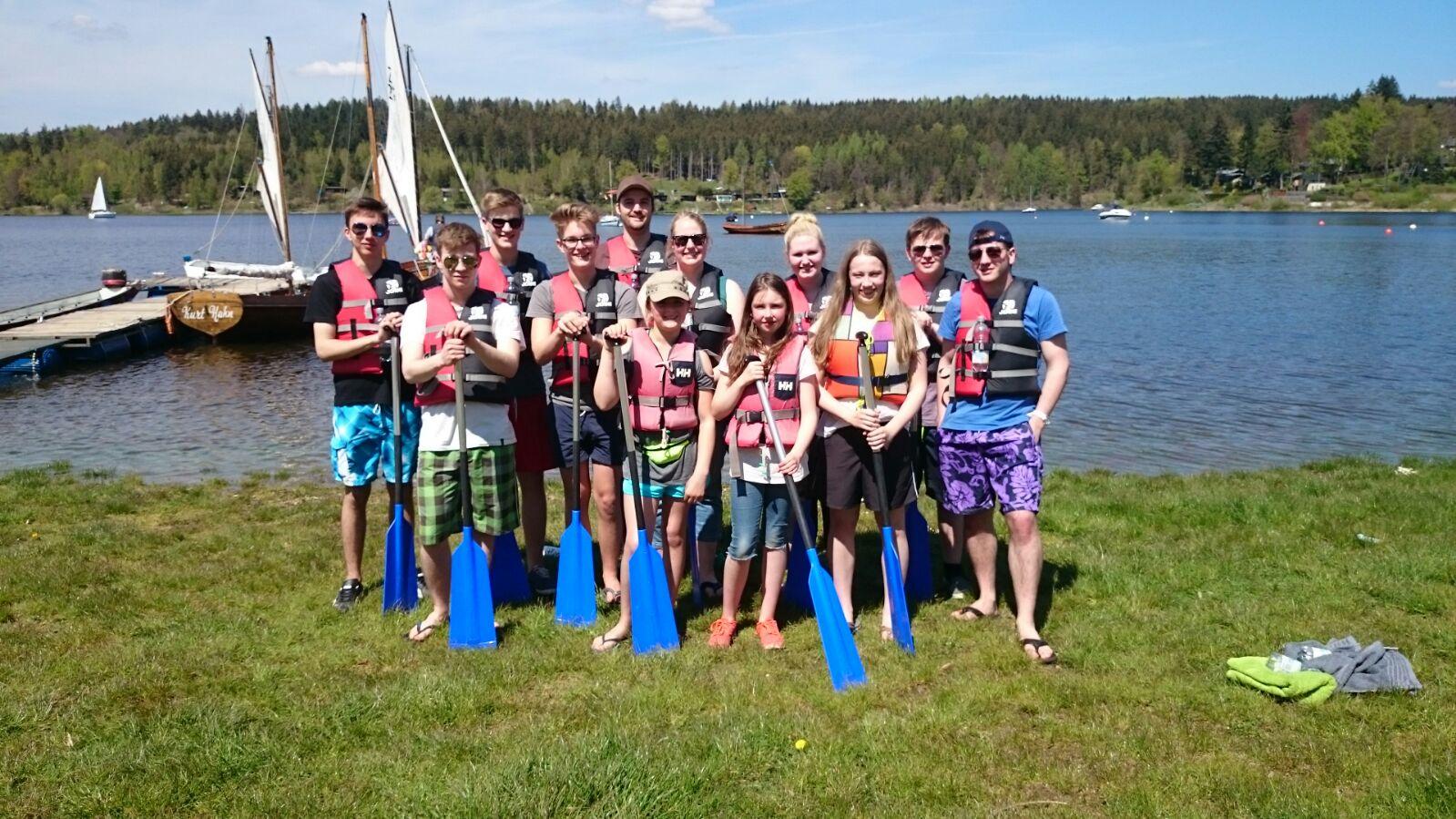 Die Jugendabteilung beim Shooty Camp in Thüringen