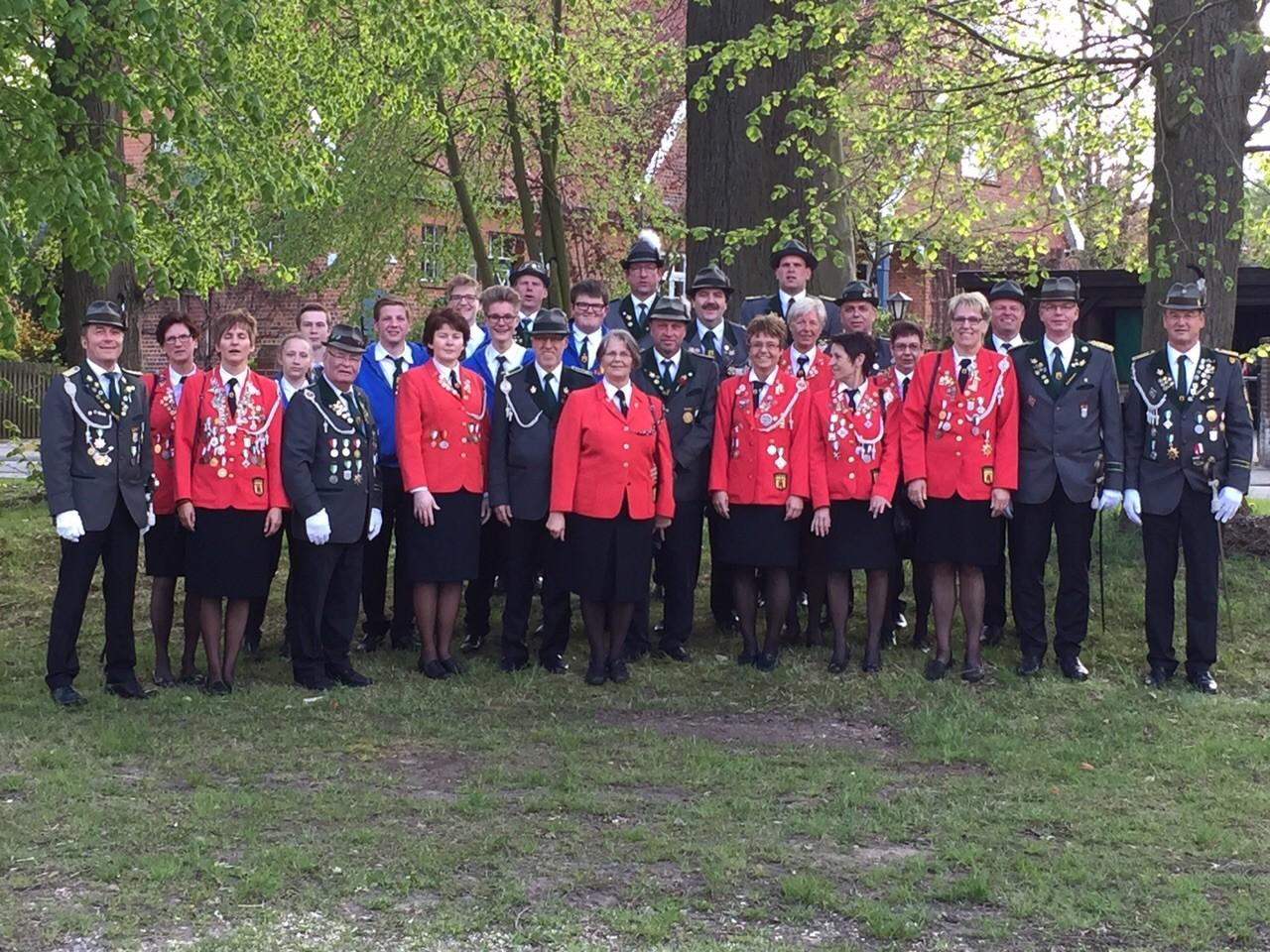Die Delegation vom Deutschen Schützentag