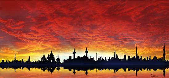 「アラブの風」 サイズ:1250×580px Photoshop CS4