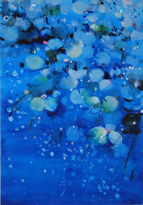 「Lotus」アクリル絵の具、F4&hellip価格 23000円(額代込)