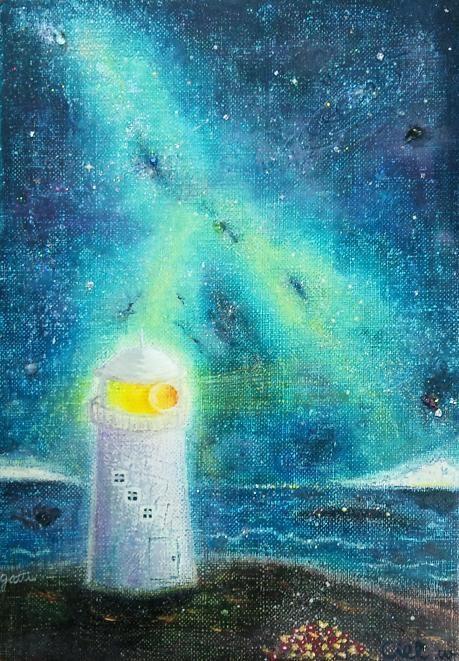 「星降る海の物語」23×16×2cm