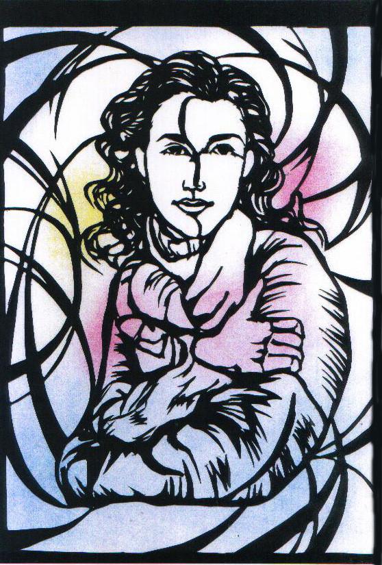 「Woman」 27×37.8cm ケント紙、色鉛筆 ¥10,000