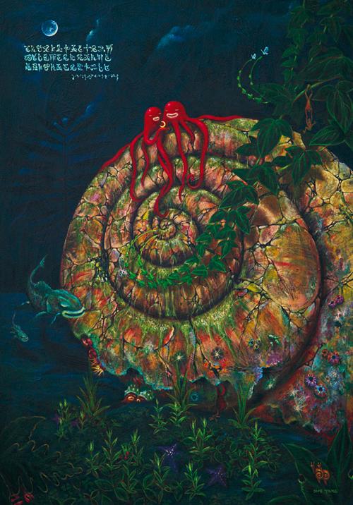 螺旋上のアリア/B1(72.8cm×103cm)/アクリル/木製パネル/20万円