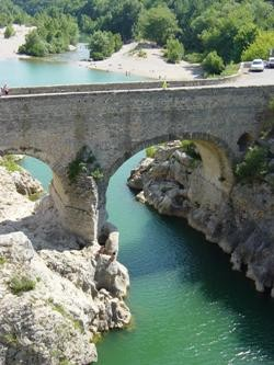 the devil bridge on Hérault river