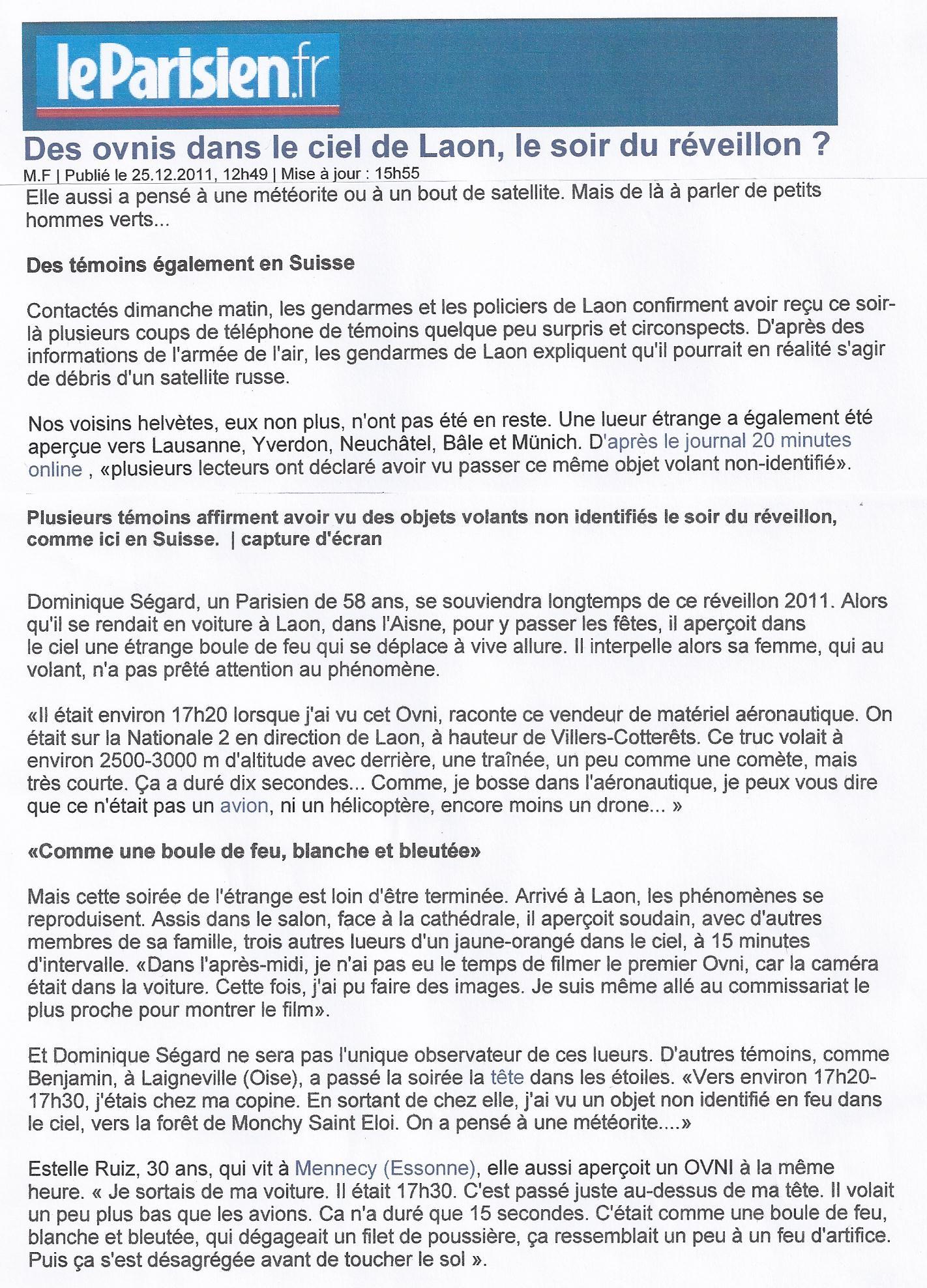 Revue De Presses Ufologie Ufocryptozoo Le Site De L