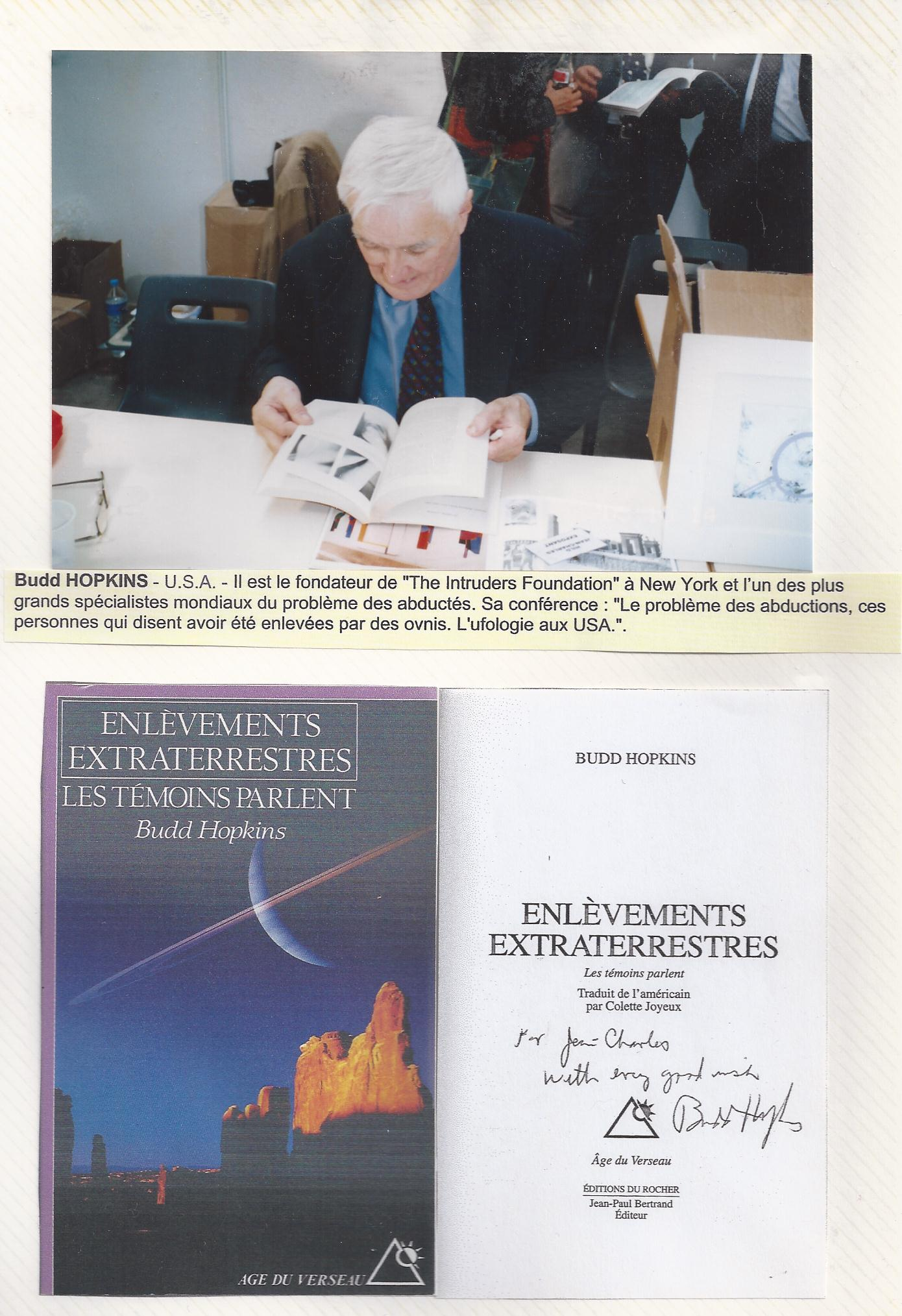 Budd HOPKINS - 15 octobre 2005