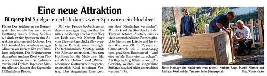 Allgäuer Zeitung 09.10.2014