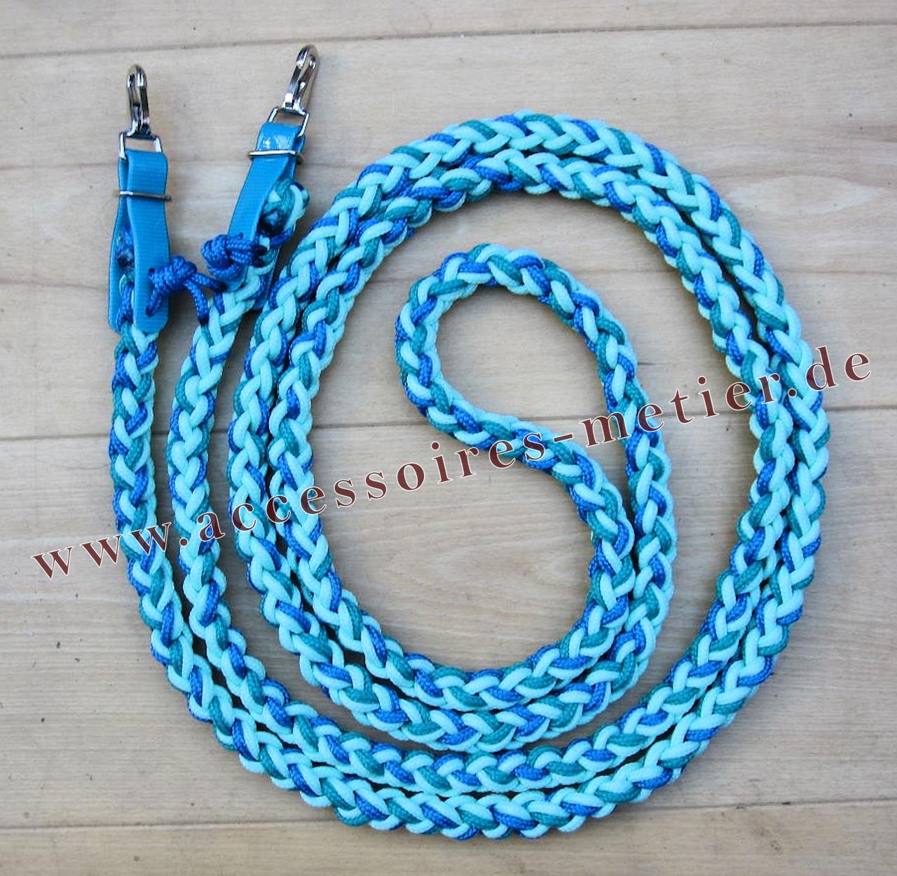 Zügel geflochten blau