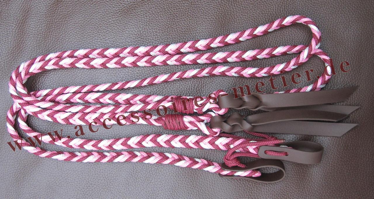 Zügel geflochten rosa
