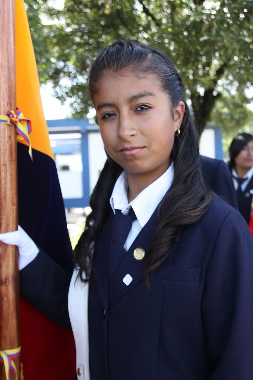 Melissa Maribel Valverde Gallardo - Abanderada del Pabellón Nacional.