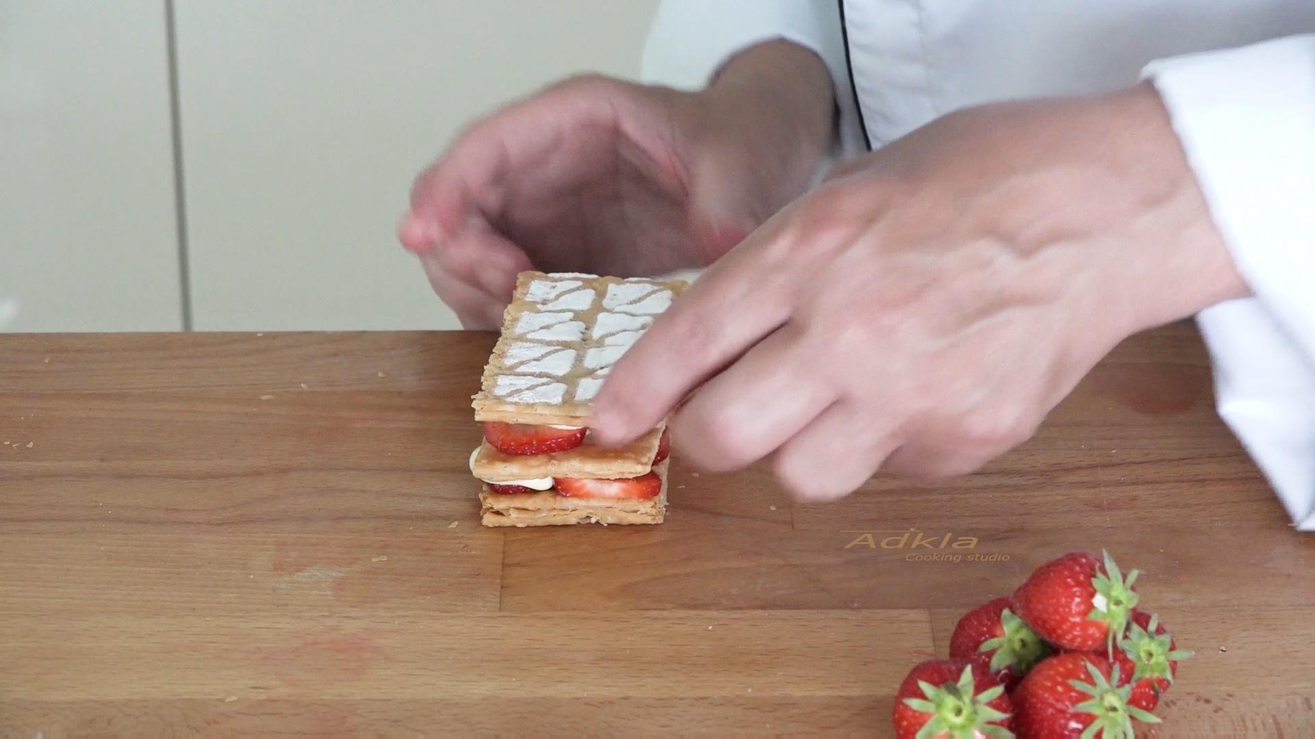 Mille-feuille met aardbeien