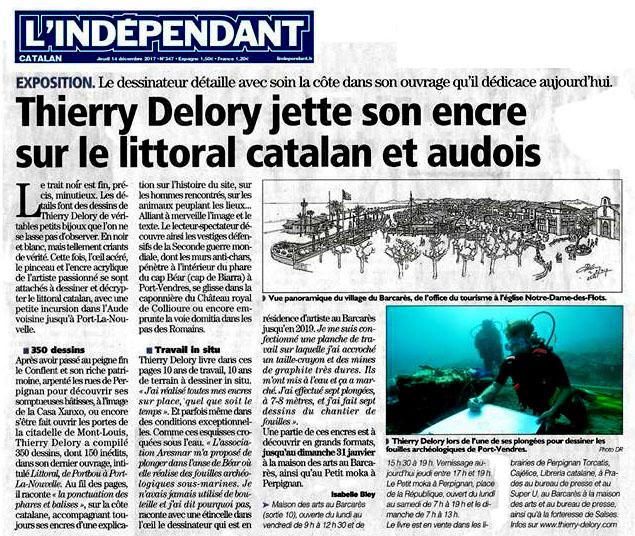 Thierry Delory évoque ses plongées de dessin avec l'ARESMAR