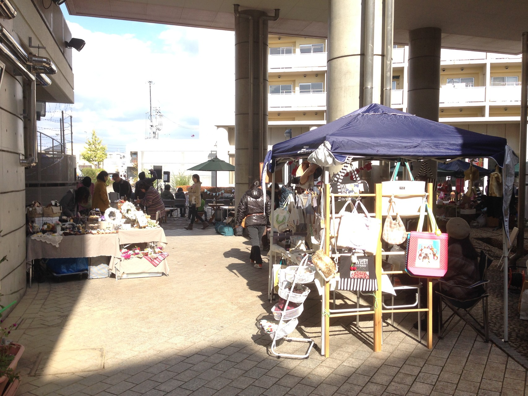 ここはづ市で音楽祭の運営をしました。