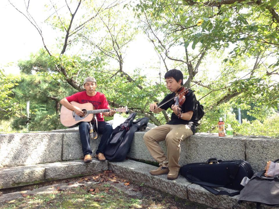 桃山城での演奏はとても気持ちが良かったです