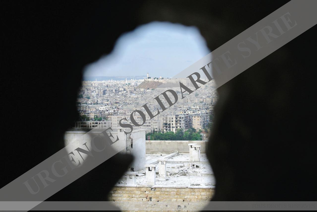 La citadelle d'Alep, qui date du XIIe siècle, vue depuis le front de Seif El Dawleh, à Alep le 11/05/2013