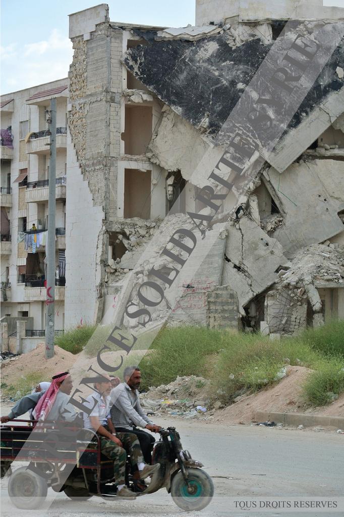 Dans le quartier d' Inshaa'at, à Alep le 07/05/2013.